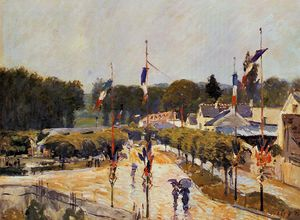 Alfred Sisley - Fourteenth of July at Marly-le-Roi