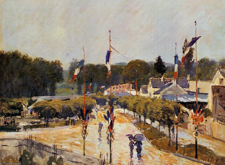 Fourteenth of July at Marly-le-Roi by Alfred Sisley (1839-1899, France)