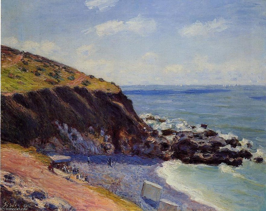 Lady's cove - langland bay, morning by Alfred Sisley (1839-1899, France)