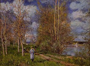 Alfred Sisley - Small Meadow in Spring