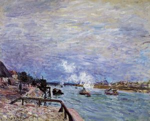 Alfred Sisley - The Seine at Grenelle - Rainy Weather
