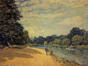 Alfred Sisley - The Thames with Hampton Court