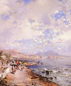 Franz Richard Unterberger - The Bay of Naples