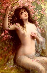 Emile Vernon - Among the blossoms