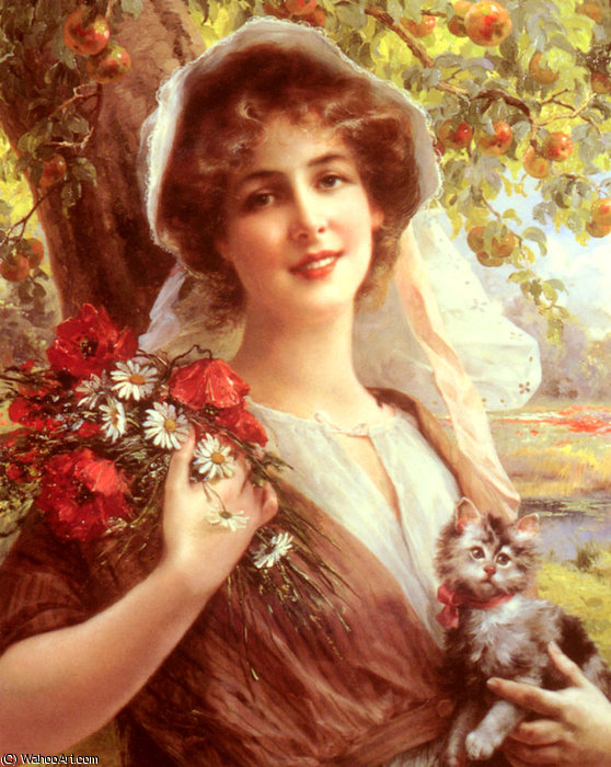 Country summer by Emile Vernon (1872-1920, France)