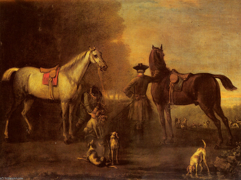 Before the hunt by John Wootton (1682-1764, United Kingdom) | Art Reproduction | WahooArt.com