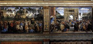 Sandro Botticelli - SistineChapel - Scenes on the left wall