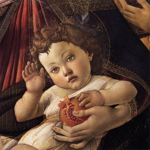 Sandro Botticelli - Madonna of the Pomegranate (detail)