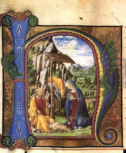 Francesco Di Giorgio Martini - other - Nativity (in an Antiphonary)