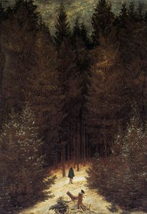 Caspar David Friedrich - Chasseur in the Forest
