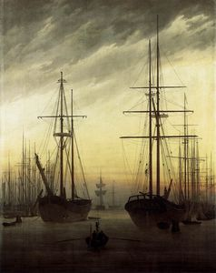 Caspar David Friedrich - of a Harbour
