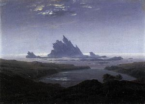 Caspar David Friedrich - Reef on the Sea Shore
