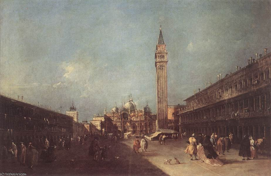 Piazza san marco, 1760 by Francesco Lazzaro Guardi (1712-1793, Italy) | Oil Painting | WahooArt.com