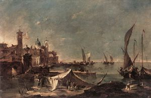 Francesco Lazzaro Guardi - Landscape with a Fisherman-s Tent