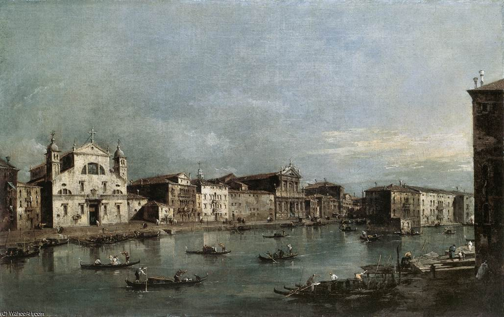 The Grand Canal with Santa Lucia and the Scalzi, 1780 by Francesco Lazzaro Guardi (1712-1793, Italy)