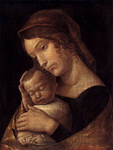 Andrea Mantegna - until1470 - Madonna with Sleeping Child