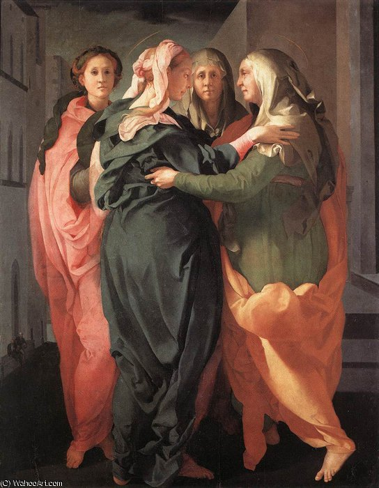 Visitation, 1520 by Jacopo Carucci (Pontormo) (1494-1557, Italy)