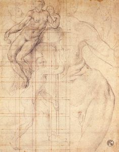 Jacopo Carucci (Pontormo) - Adam and Eve at Work