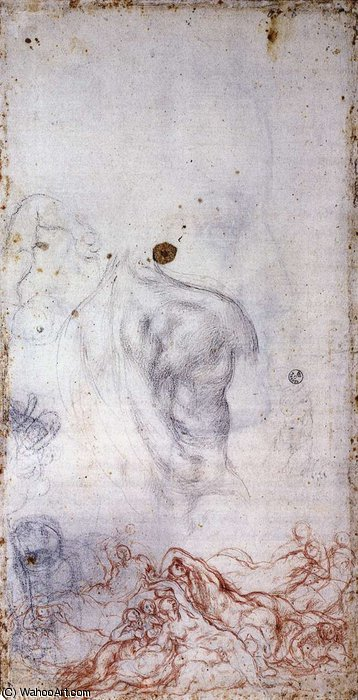 Study for the Deluge by Jacopo Carucci (Pontormo) (1494-1557, Italy) | Museum Quality Reproductions | WahooArt.com