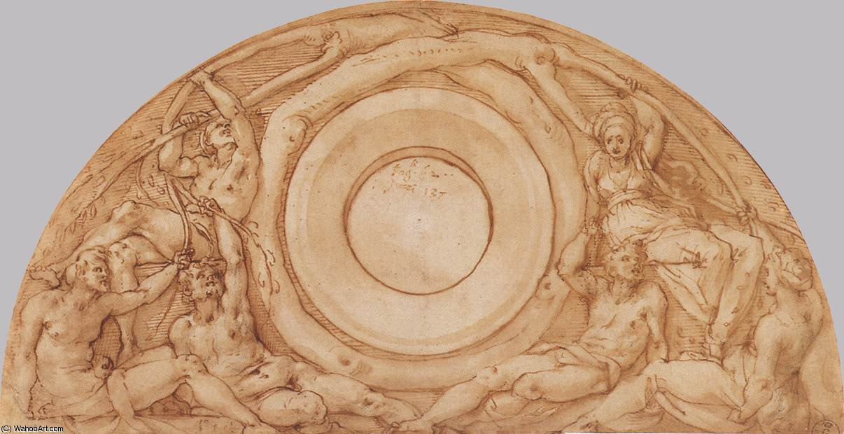 Study for the Lunette with Vertumnus and Pomona by Jacopo Carucci (Pontormo) (1494-1557, Italy)