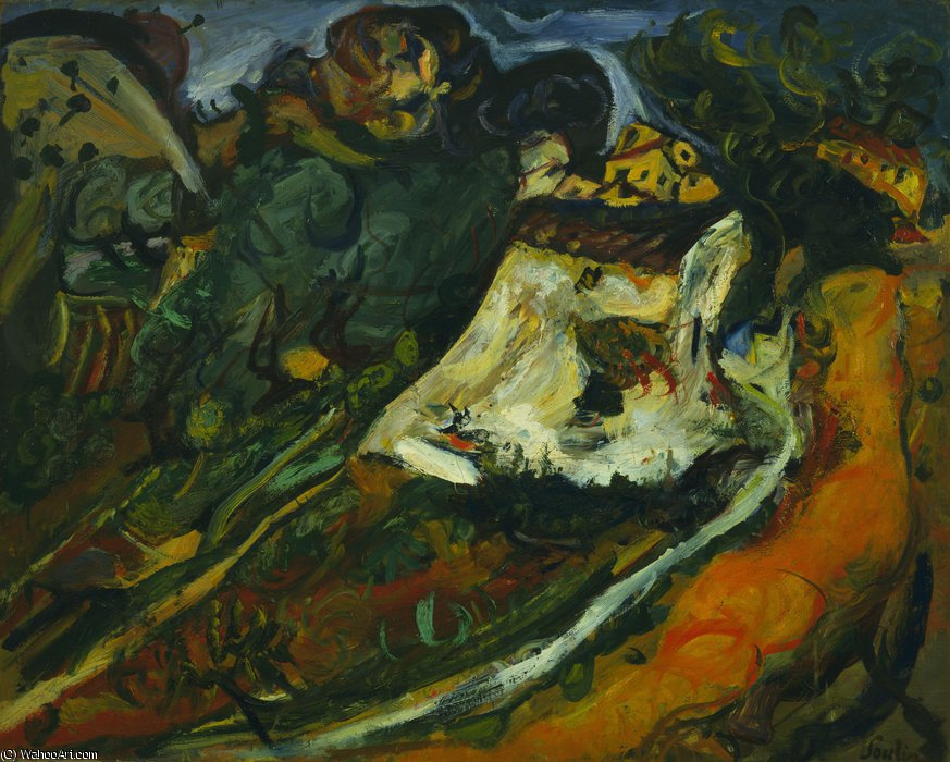 The old mill by Chaim Soutine (1894-1943, Russia) | Painting Copy | WahooArt.com
