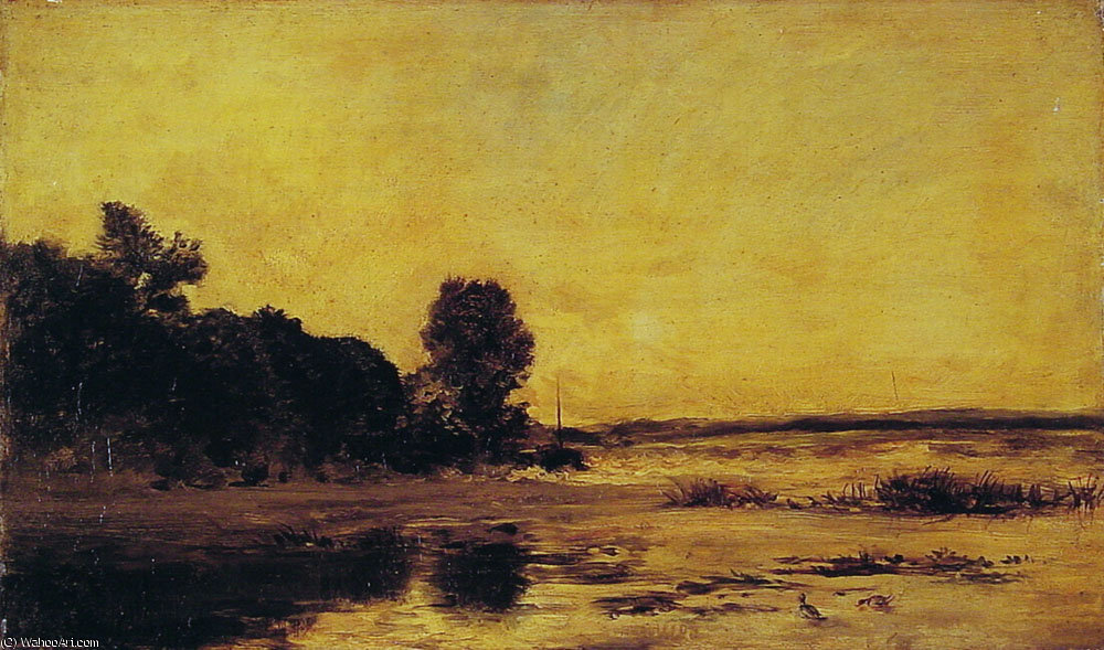 By the Sea by Charles François Daubigny (1817-1878, France) | Oil Painting | WahooArt.com