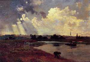 Charles François Daubigny - The Banks of the River