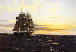 Montague Dawson - Into the westerly sun