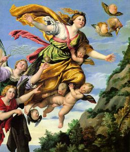 Order Famous Paintings Reproductions : The Assumption of Mary Magdalene into Heaven by Domenichino (Domenico Zampieri) (1581-1641, Italy) | WahooArt.com