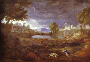 Nicolas Poussin - Landscape with Pyram and Thisbe