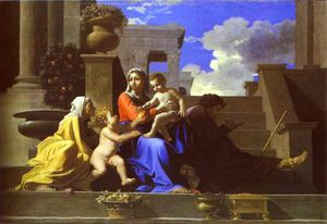 Nicolas Poussin - The Holy Family on Steps