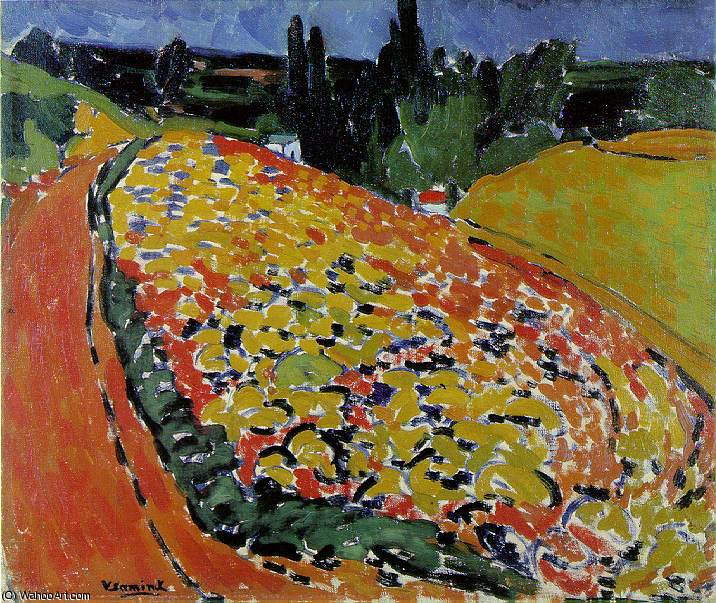 The hills at Rueil, Musee d'Orsay, Paris by Maurice De Vlaminck (1876-1958, France) | WahooArt.com