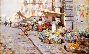 Attilio Pratella - The marketplace