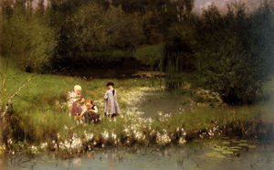Emil Claus - Picking blossoms
