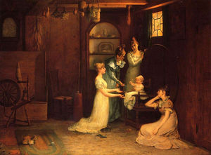 Francis Davis Millet - Playing with Baby