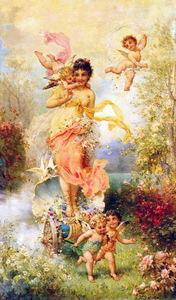 Hans Zatzka - The goddess of spring