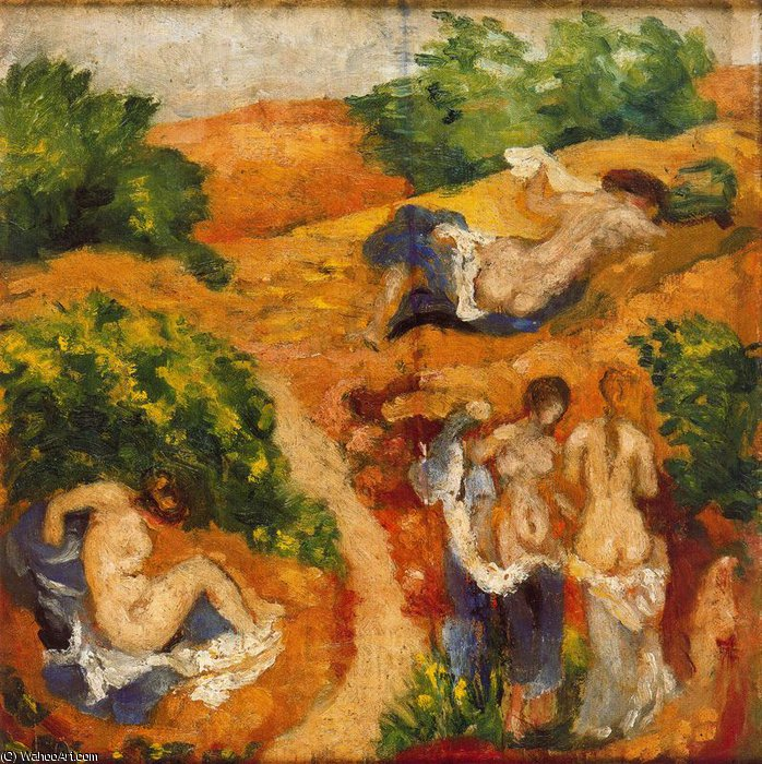 Untitled (434) by Aristide Maillol (1861-1944, France) | Paintings Reproductions Aristide Maillol | WahooArt.com