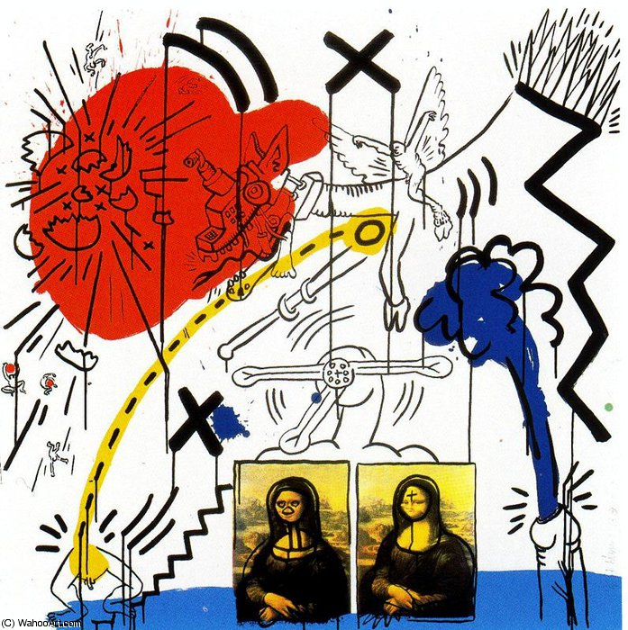 Untitled (901) by Keith Haring (1958-1990, United States) | Oil Painting | WahooArt.com