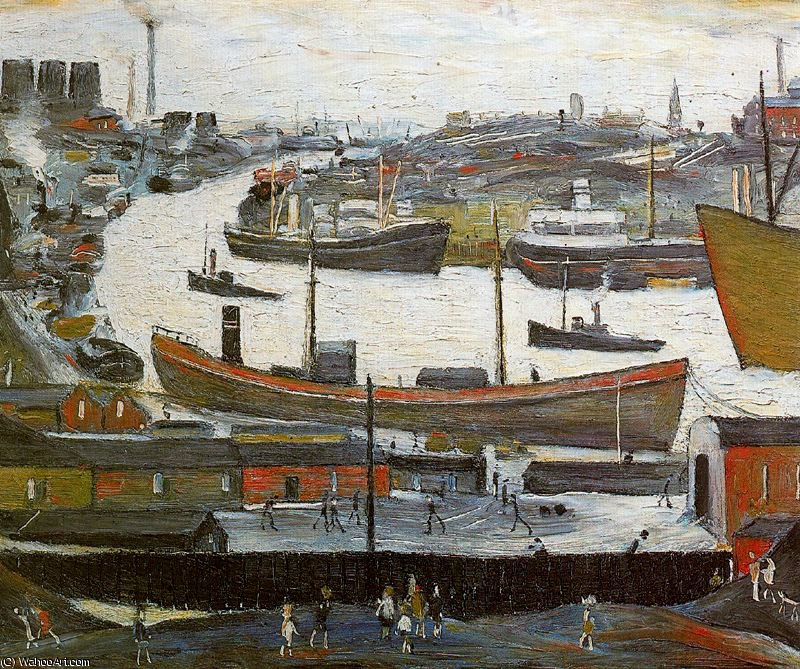 Untitled (778) by Lawrence Stephen Lowry (1887-1976, United Kingdom)