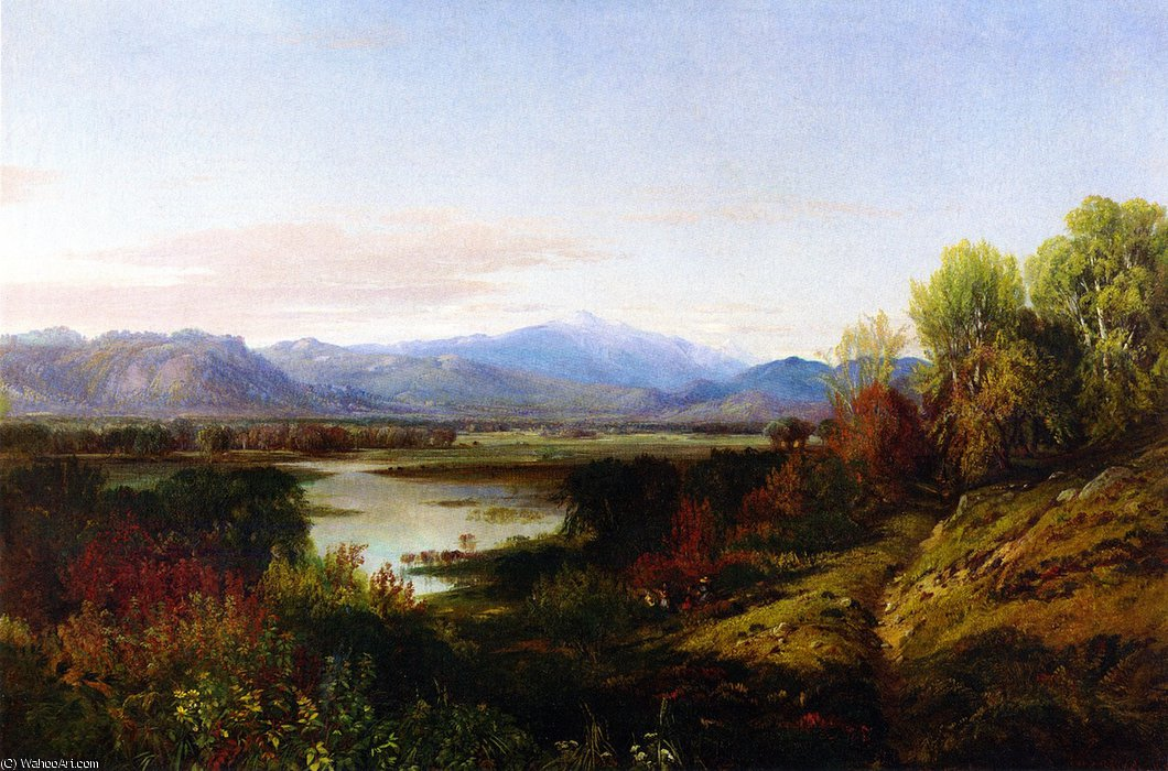 Mount Washington and the Saco River by Aaron Draper Shattuck (1832-1928, United States) | Painting Copy | WahooArt.com