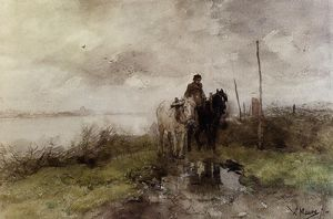 Anton Mauve - The country road