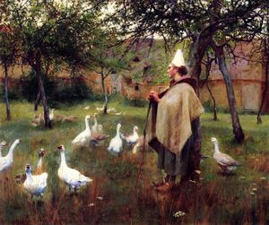 Charles James Theriat - Goose girl
