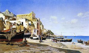 Federico Del Campo - The harbour - capri