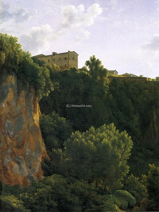 Gorge at Civita Castellana by Joseph Pierre Xavier Bidauld (1758-1846) | Oil Painting | WahooArt.com