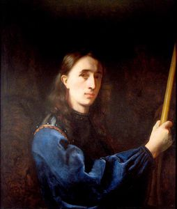 Johann Ulrich Mayr - Portrait in a Blue Coat with Cuirass