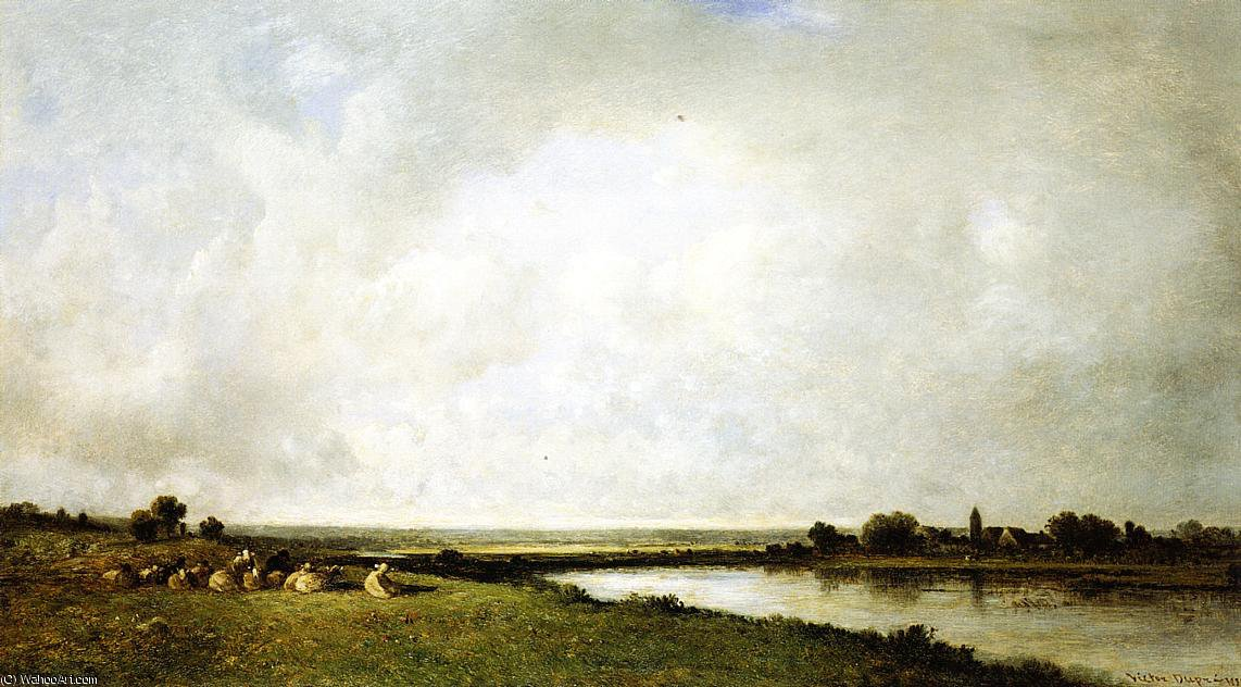 Buy Museum Art Reproductions | Landscape with Sheep by Leon Victor Dupre (1816-1879, France) | WahooArt.com