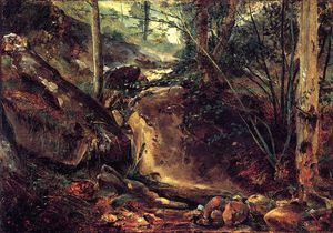 Théodore Rousseau (Pierre Etienne Théodore Rousseau) - Mountain Stream in the Auverne