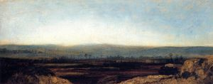 Théodore Rousseau (Pierre Etienne Théodore Rousseau) - Panoramic Landscape on the Outskirts of Paris