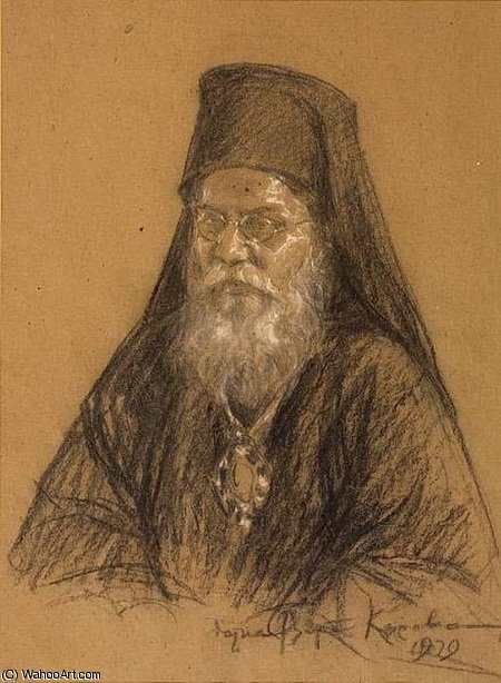 The Patriarch of Alexandria by Thalia Flora Karavia (1871-1960, Greece) | Museum Quality Reproductions | WahooArt.com