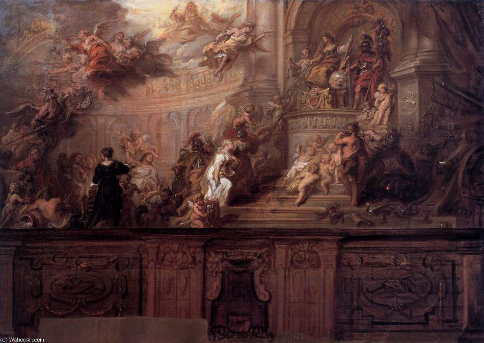 Order Oil Painting : Allegory of the Entry of - s Hertogenbosch and Meierij into t....Union of Utrecht by Theodor Van Thulden (1606-1669, Netherlands) | WahooArt.com